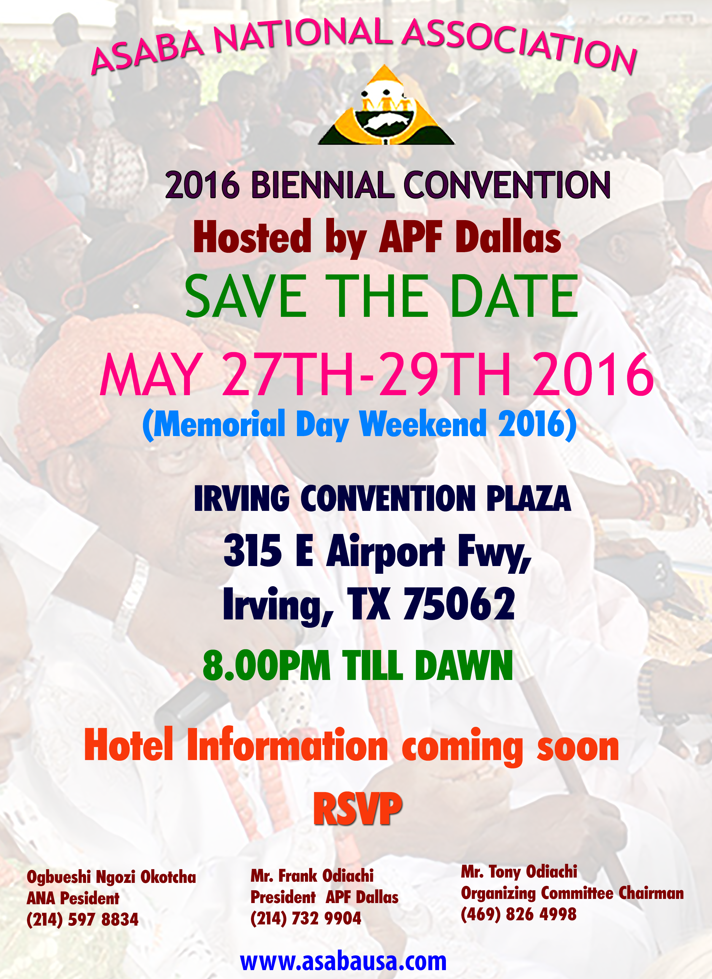 Asaba National Association 2016 Convention @ Irving Convention Plaza | Irving | Texas | United States